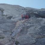 Schöne Kletterei in Granitplatten